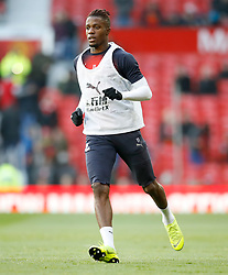 Crystal Palace's Wilfried Zaha warms up ahead of the match