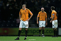 Photo: Paul Thomas/Sportsbeat Images.<br /> Preston North End v Hull City. Coca Cola Championship. 04/12/2007.<br /> <br /> Hull's Dean Marney (L) shows his dejection after Preston score.