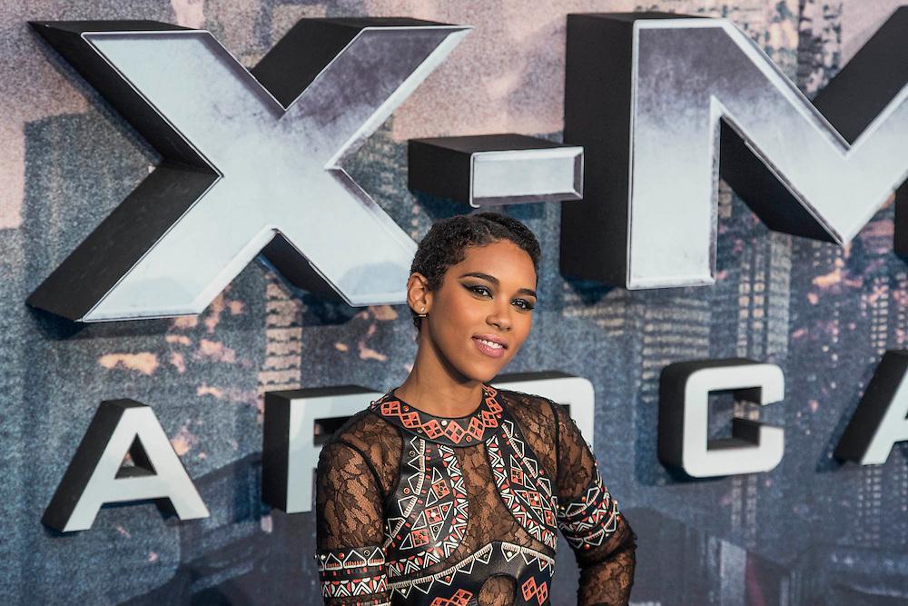 Alexandra Shipp (Storm) - The 'global fan screening' of Twentieth Century Fox's X-Men Apocalypse at the BFI IMAX at Waterloo.