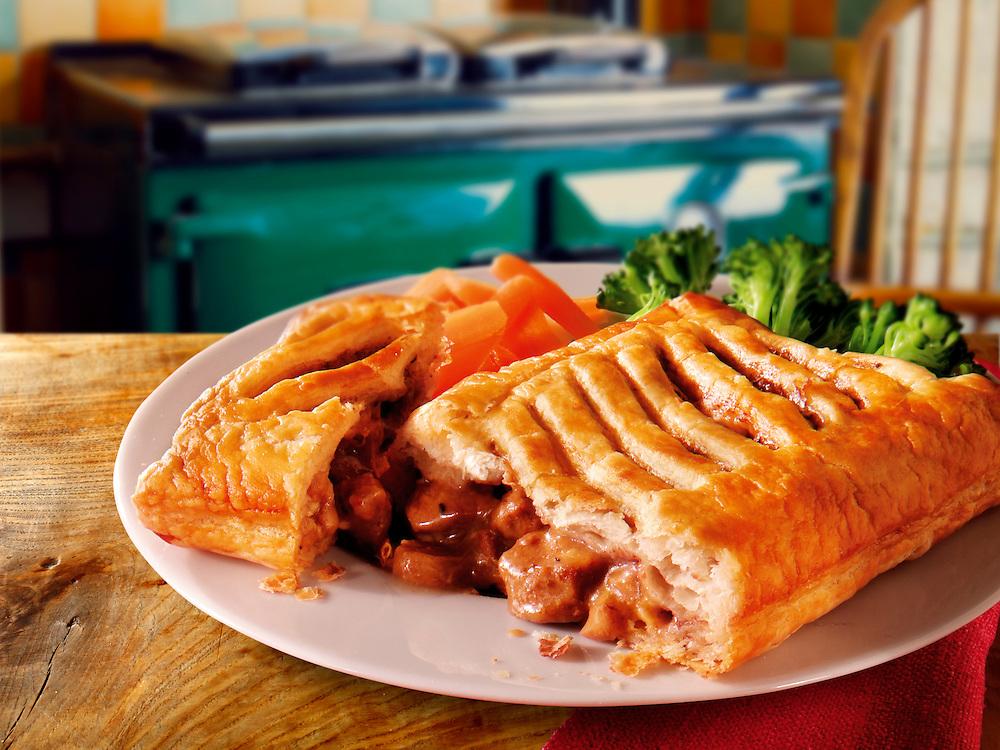 British Food - peppered steak lattice pie