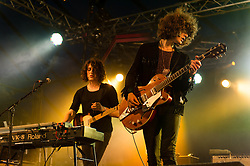 © Licensed to London News Pictures. 18/07/2014. Southwold, UK.   Temples performing live at Latitude Festival 2014 on Day 1.  The Latitude Festival is a British annual music festival.  Photo credit : Richard Isaac/LNP