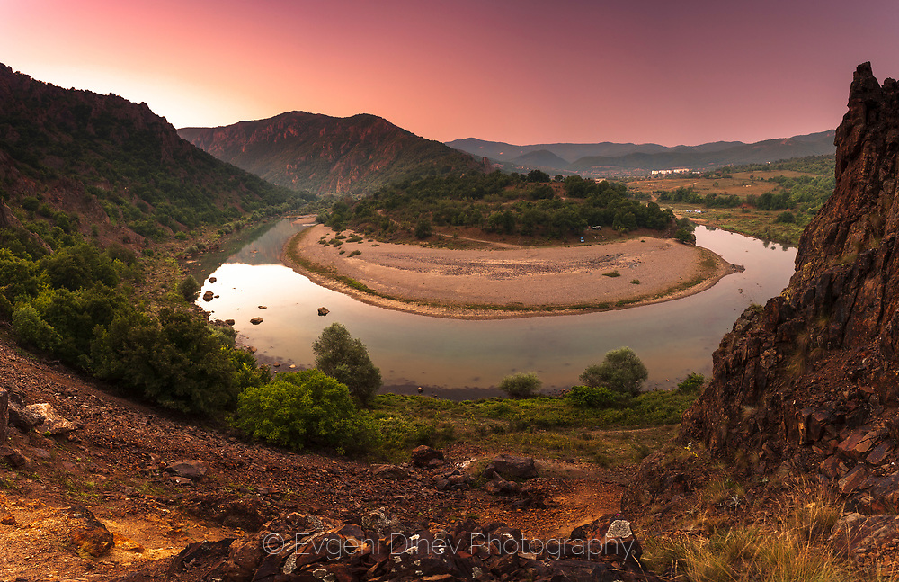 Meander of Arda river in Rhodope Mountains
