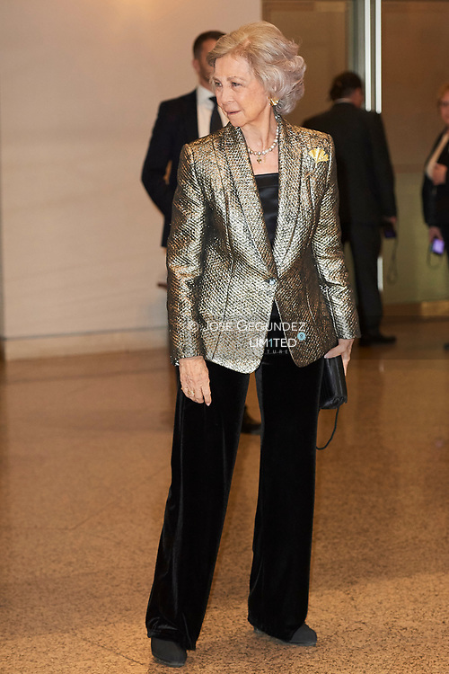 Queen Sofia of Spain attends the annual concert offered by EFE agency in collaboration with Foundation Excelentia at National Auditorium on March 28, 2019 in Madrid, Spain