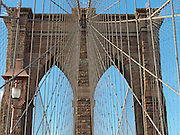 Brooklyn Bridge bricks and suspension wires.