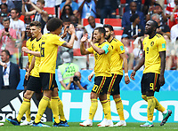 Belgium celebration<br /> Moscow 23-06-2018 Football FIFA World Cup Russia  2018 <br /> Belgium - Tunisia / Belgio - Tunisia <br /> Foto Matteo Ciambelli/Insidefoto