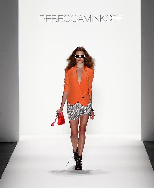 Models walk the runway for Rebecca Minkoff Spring 2012 fashion show during New York Fashion Week, NYC, NY, USA. 12/09/2011 Kevin Kane/CatchlightMedia