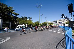 Peloton lead by Charlotte Becker and Emilia Fahlin at Madrid Challenge by la Vuelta 2017 - a 87 km road race on September 10, 2017, in Madrid, Spain. (Photo by Sean Robinson/Velofocus.com)
