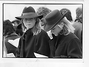 Fiona Clark; Mary-Ann Clark. Cheltenham, 1986 *** Local Caption *** -DO NOT ARCHIVE-© Copyright Photograph by Dafydd Jones 66 Stockwell Park Rd. London SW9 0DA Tel 020 7733 0108 www.dafjones.com