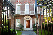 Historic Nathaniel Russell House on Meeting Street in Charleston, SC.