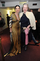 Left to right, OLGA BALAKLEETS and RAINE, COUNTESS SPENCER at the Russian Ballet Icons Gala and Dinner - 100 Galina Ulanova held at The London Coliseum (English national Opera) St.Martin's Lane, London on 15th May 2011.