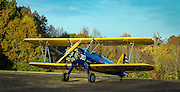 """Boeing PT-17D """"Stearman,"""" used as the primary trainer for new Army Air Corps pilots in WWII."""