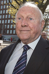 © Licensed to London News Pictures . 02/05/2013 . Preston , UK . Broadcaster STUART HALL leaves Preston Crown Court this morning (Thursday 2nd May) after a pre trial hearing . Hall has admitted to a series of historic sexual assaults . Photo credit : Joel Goodman/LNP