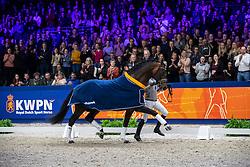 Minderhoud Hans Peter, NED, Glock's Johnson TN<br /> KWPN hengstenkeuring - 's Hertogenbosch 2020<br /> © Hippo Foto - Dirk Caremans<br /> 31/01/2020