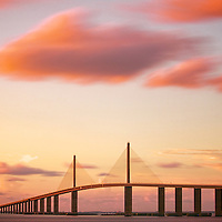 Tampa's most badass bridge at sunset.