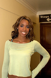 Kelly Rowland pictured backstage before getting changed for her solo show at Sheffield City Hall<br /> 20 Spetember 2003<br /> image copyright Paul David Drabble