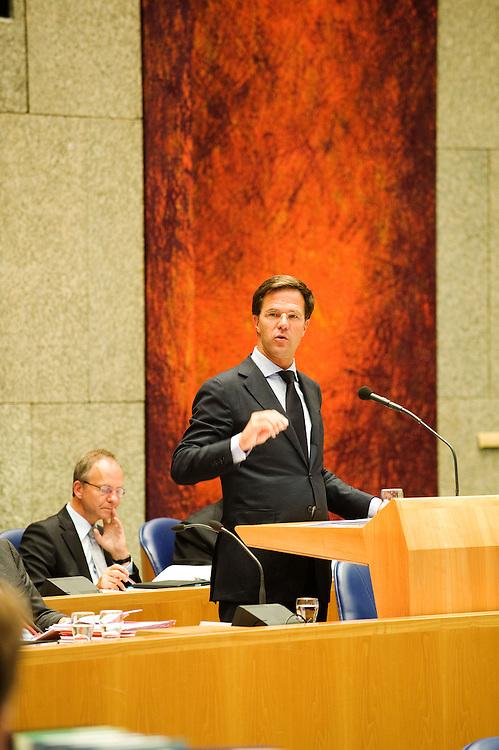 Nederland, den Haag, 22 sept  2011.Algemene Politieke Beschouwingen in de Tweede Kamer..Rutte beantwoord vragen van de kamer, 1e termijn.Foto(c): Michiel Wijnbergh