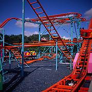A294N8 Funfair rides Pleasurewood Hills Suffolk England
