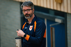 Referee Marco Strik in action during the league match Laudame Financials VCN - FAST on January 23, 2021 in Capelle aan de IJssel.