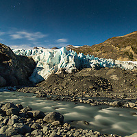 Camped solo by Portage Glacier for several days in Alaska.  Never had to use my headlamp because of the full moon. © John McBrayer 2015