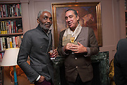 ERIC WRIGHT; AMIR HOSSEINPOUR, Dinner to celebrate the opening of Pace London at  members club 6 Burlington Gdns. The dinner followed the Private View of the exhibition Rothko/Sugimoto: Dark Paintings and Seascapes.