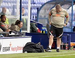 BIRKENHEAD, ENGLAND - Sunday, August 29, 2021: Liverpool manager Matt Beard looks dejected during the FA Women's Championship game between Liverpool FC Women and London City Lionesses FC at Prenton Park. London City won 1-0. (Pic by Paul Currie/Propaganda)
