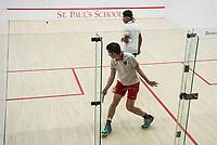 St Paul's School varsity squash with Groton.  ©2018 Karen Bobotas Photographer