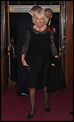 November 12, 2016 - London, United Kingdom - Image ©Licensed to i-Images Picture Agency. 12/11/2016. London, United Kingdom. Royal Festival of Remembrance. ...The Duchess of Cornwall arrives at the annual Royal Festival of Remembrance at the Royal Albert Hall in London..Picture by  i-Images / Pool (Credit Image: © i-Images via ZUMA Wire)