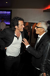 Left to right, STEPHEN WEBSTER and VIDAL SASSOON at a party to celebrate the new Stephen Webster store on Mount Street, London W1 followed by a dinner at Maddox, Mill Street, London on 24th June 2009.