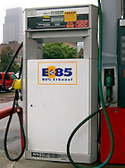 An E-85 pump in Omaha, Neb.  It is the only one in Omaha that has the 85% ethanol blend.. Photo stock for Ethanol in the Midwest. Photo by Chris Machian