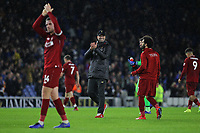 Football - 2018 / 2019 Premier League - Brighton and Hove Albion vs. Liverpool<br /> <br /> Liverpool Manager Jurgen Klopp is all smiles after the final whistle at The Amex Stadium Brighton <br /> <br /> COLORSPORT/SHAUN BOGGUST