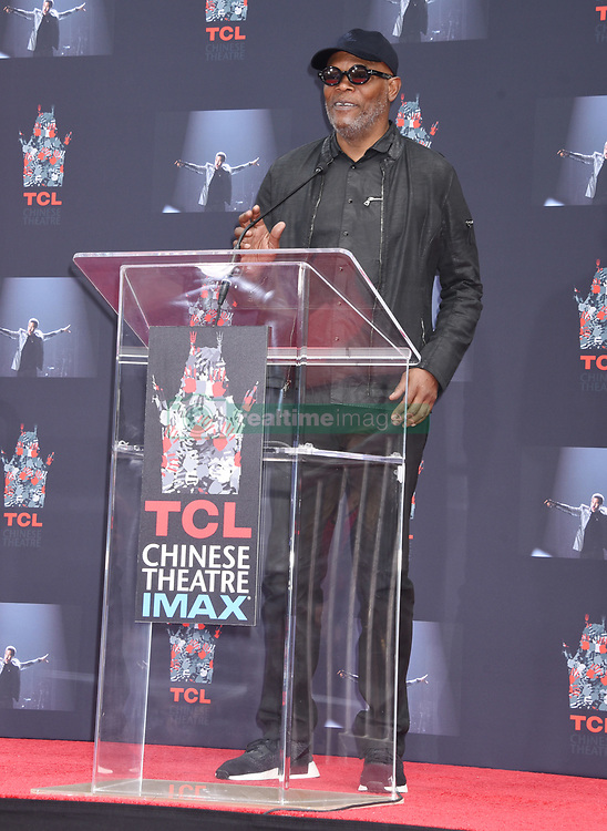 Lionel Richie Handprints and Footprints at the Lionel Richie Hand and Footprints Ceremony at the TCL Chinese Theatre on March 7, 2018 in Hollywood, Ca. © Janet Gough / AFF-USA.COM. 07 Mar 2018 Pictured: Samuel L. Jackson. Photo credit: MEGA TheMegaAgency.com +1 888 505 6342