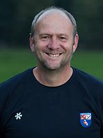 BLOEMENDAAL -  coach Michel van den Heuvel (Bldaal)   Heren I, seizoen 217-2018. COPYRIGHT KOEN SUYK