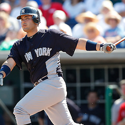 February 27, 2011; Clearwater, FL, USA; New York Yankees Jesus Montero (83) during a spring training exhibition game against the Philadelphia Phillies at  Bright House Networks Field. Mandatory Credit: Derick E. Hingle