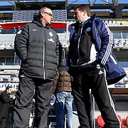 Werder Bremen's coach Thomas Schaaf (L) and Vfl Wolfsburg's coach Dieter Hecking (R) during their Tuttur.com Cup Final soccer match Werder Bremen between Werder Bremen v Vfl Wolfsburg at Mardan stadium in Antalya Turkey on 09 Wednesday January, 2013. Photo by Aykut AKICI/TURKPIX