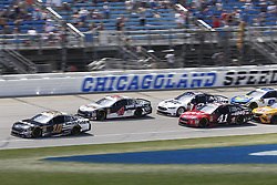 July 1, 2018 - Joliet, Illinois, United States of America - Aric Almirola (10) battles for position during the Overton's 400 at Chicagoland Speedway in Joliet, Illinois  (Credit Image: © Justin R. Noe Asp Inc/ASP via ZUMA Wire)