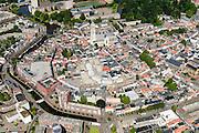 Nederland, Noord-Brabant, Breda, 23-08-2016; <br /> Centrum Breda met Onze Lieve Vrouwe Kerk (Grote Kerk Breda). <br /> Overview city centre Breda.<br /> <br /> aerial photo (additional fee required); <br /> luchtfoto (toeslag op standard tarieven); copyright foto/photo Siebe Swart
