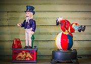 Toys from a bygone era, found in a restored General Store in Dallas Heritage  Village in Old City Park, Dallas, Texas
