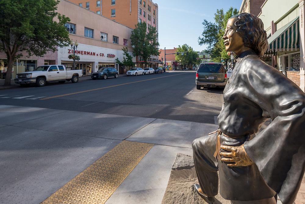 Stella Darby statue in downtown Pendleton, Oregon.