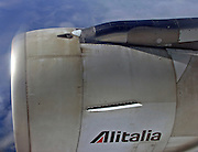 Alitalia passenger jet engine