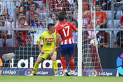 August 1, 2017 - Munich, Germany - Luciano Vietto of Atletico de Madrid scoring the goal of 1-2 durign the first Audi Cup football match between Atletico Madrid and SSC Napoli in the stadium in Munich, southern Germany, on August 1, 2017. (Credit Image: © Matteo Ciambelli/NurPhoto via ZUMA Press)