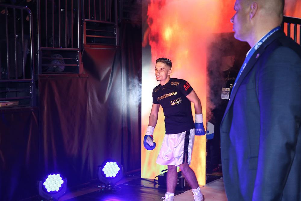 BOXEN: EC Boxing & SES Boxing, Hamburg, 18.01.2020<br /> Nenad Stancic (GER) - Nukri Gamgebeli (GEO)<br /> © Torsten Helmke