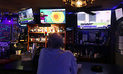 Tom, a resident of the area since 1971, enjoys the evening at the Side Pocket Sports Pub in Indian Harbour Beach, on Monday, September 2, 2019.<br /> Photo by Ricardo Ramirez Buxeda/ Orlando Sentinel/TNS/ABACAPRESS.COM