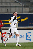 FOOTBALL - FRENCH LEAGUE CUP 2011/2012 - 1/2 FINAL - OLYMPIQUE MARSEILLE v OGC NICE - 1/02/2012 - PHOTO PHILIPPE LAURENSON / DPPI - ANTHONY MOUNIER (NIC) JOY AFTER GOAL