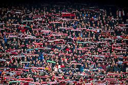 25-02-2017 NED: Feyenoord - PSV, Rotterdam<br /> 24e speelronde van seizoen 2016-2017, De Kuip / Feyenoord support sfeer sjaaltjes