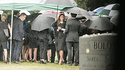 EXCLUSIVE: Bethenny Frankel receives emotional support after breaking down during final goodbyes for ex-boyfriend, Dennis Shields at the cemetery where his burial is taking place. Shields was found deceased in his Trump Tower apartment last week of an apparent overdose of narcotic painkillers. 13 Aug 2018 Pictured: Bethenny Frankel. Photo credit: MEGA TheMegaAgency.com +1 888 505 6342