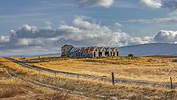 THEMENBILD - ein verlassenes Haus, Hringvegur Hvalfjaroearsveit, aufgenommen am 25. Oktober 2019 in Island // an abandoned house, Hringvegur Hvalfjaroearsveit, Iceland on 2019/10/25. EXPA Pictures © 2019, PhotoCredit: EXPA/ Peter Rinderer