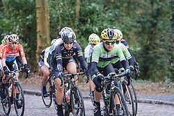 Amy Pieters well positioned as the lead group charge across the cobbles - Le Samyn des Dames 2016, a 113km road race from Quaregnon to Dour, on March 2, 2016 in Hainaut, Belgium.