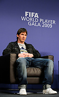 Lionel Messi (ARG) an der Pressekonferenz. © Valeriano Di Domenico/EQ Images