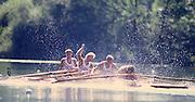 Lucerne, SWITZERLAND.  NOR M4X. Alf HANSEN, Rolf THORSEN, Lars  BIONNESS, Vetle VINJEI, 1988  Lucerne International Regatta, Lake Rotsee. June 1988 [Mandatory Credit - Peter Spurrier/Intersport Images] 1988 Lucerne International Regatta
