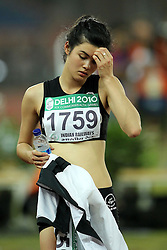 Liz Lamb of New Zealand during the final of the women's high jump during the XiX Commonwealth Games at the Jawaharlal Nehru Stadium in New Delhi, India on the 10 October 2010..Photo by:  Ron Gaunt/photosport.co.nz
